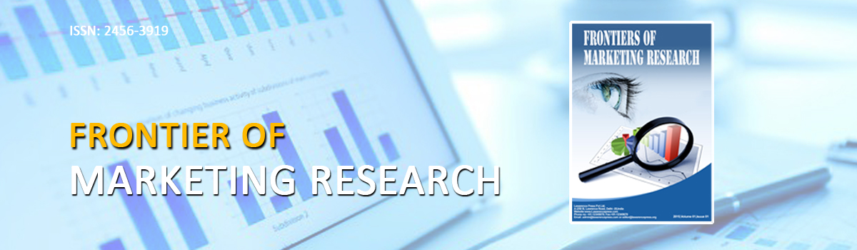 Frontiers of Marketing Research (ISSN- 2456-3919)